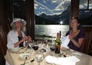 Dinner at the Many Glacier Hotel