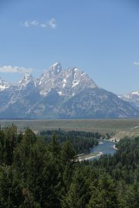 Terry's picture of the Snake River -- standing in the exact spot where Ansel Adams stood -- circa 1945