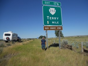 This was one of those nerve wracking side of the road stops on the highway, but it meant a lot to Terry
