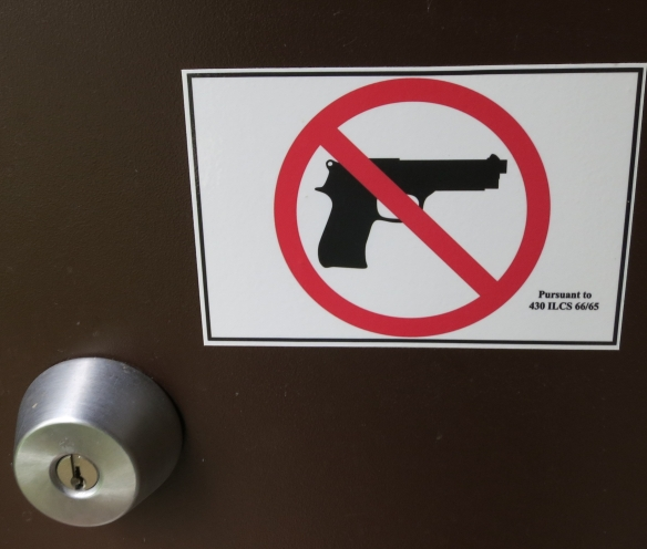 Sign on the Ladies Room Door