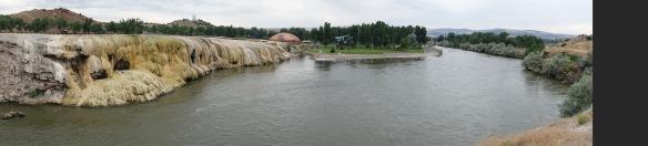 view from swinging bridge