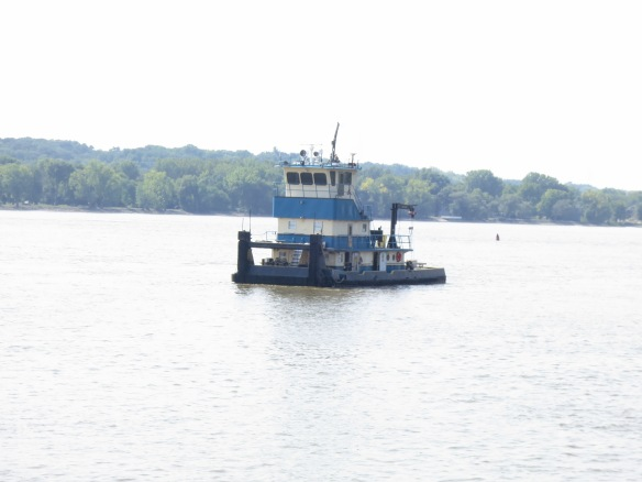 Tugboat on the Mississippi
